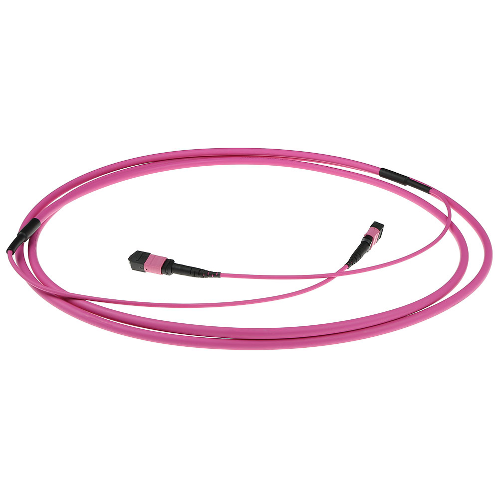 ACT 70 meter Multimode 50/125 OM4(OM3) polarity B fiber trunk cable with MTP/MPO female connectors