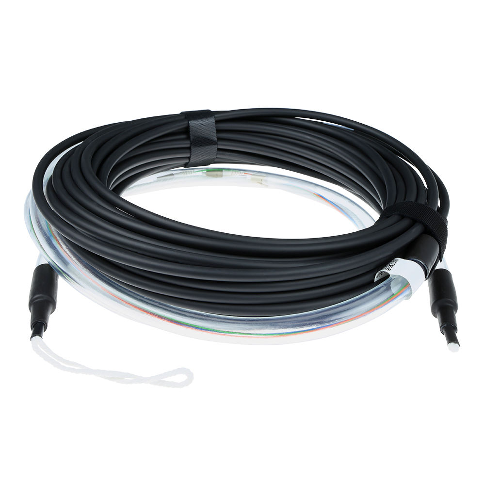 ACT 180 meter Singlemode 9/125 OS2 indoor/outdoor cable 8 fibers with LC connectors