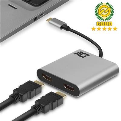 ACT USB-C to HDMI dual monitor MST female adapter 4K