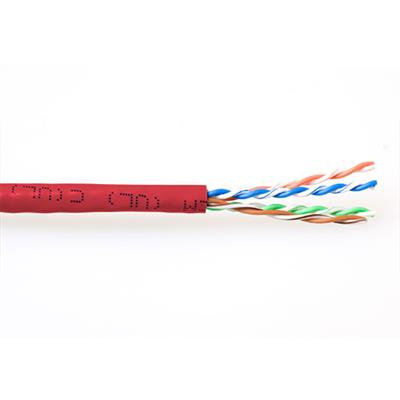ACT CAT6A U/UTP PVC patch 305 m red