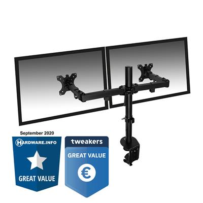 Ewent Monitor desk mount, 2 screens up to 32 inch, black