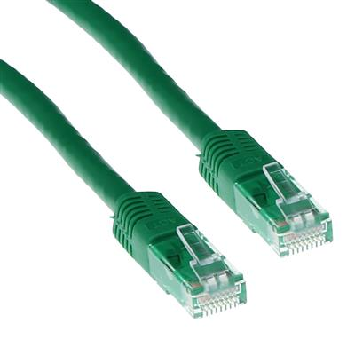 ACT Green 1.5 meter LSZH U/UTP CAT6A patch cable with RJ45 connectors