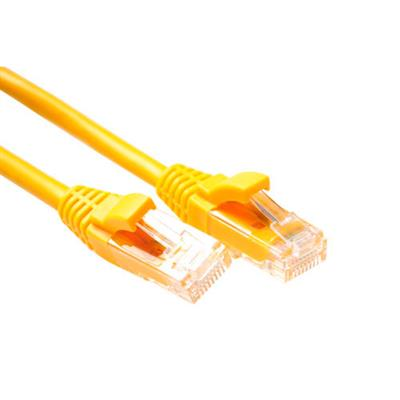 ACT Yellow 0.5 meter U/UTP CAT6 patch cable component level with RJ45 connectors