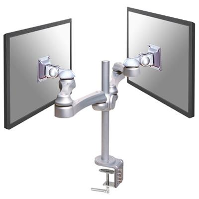 Newstar FPMA-D930D Monitor desk mount for 2 screens up to 30 inches, silver