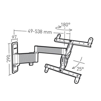 ERARD 048340 EXO 400TW3 TV and monitor wall mount up to 55 inches