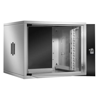 Rittal 7057.000 Wall enclosure QE Box, 19 inch, 6 U, 60 cm wide, 34 cm high, 50 cm depth