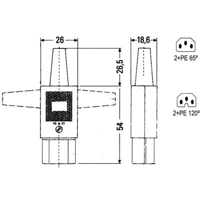 MPE-Garry 43R011311 C13 Power connector female